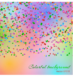 Falling confetti background vector