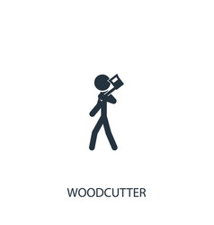 Farmer with ax icon simple gardening element vector