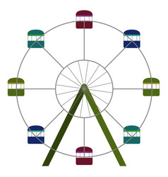 ferris wheel ride vector image