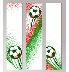 Football championship vertical banner with ball vector image