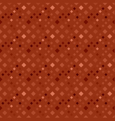 Geometrical seamless brown square pattern vector