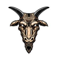 goat head design element for poster card logo vector image