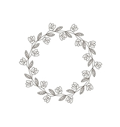 Hand-drawn floral frame made in vector image
