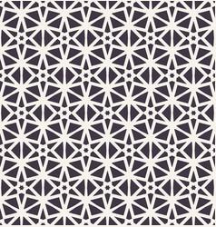 Hand drawn mosaic star trellis repeating geo vector