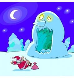 Horrible snowman vector