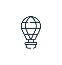 hot air balloon icon hot air balloon editable vector image