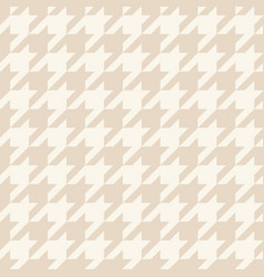 houndstooth seamless pastel brown pattern vector image