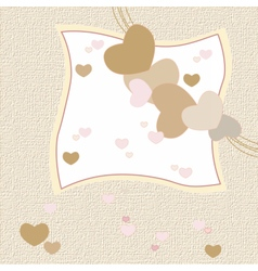 Love heart invitation card vector image