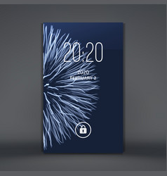 modern lock screen for mobile apps smartphone 3d vector image