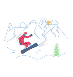 mountain ski resort concept vector image