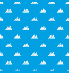 Mountains pattern seamless blue vector
