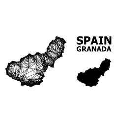 Net map granada province vector