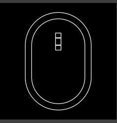 Optical mouse the white path icon vector