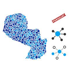 Paraguay map links mosaic vector