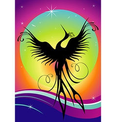 Phoenix bird silhouette re-birth vector