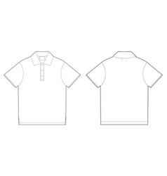 Polo t-shirt design template front and back vector