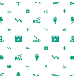 production icons pattern seamless white background vector image