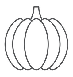 pumpkin thin line icon vegetable and vitamin vector image