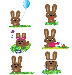 Rabbit holiday vector