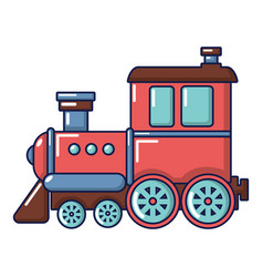 Railroad icon cartoon style vector