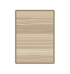 Rectangle with wood texture isolated icon vector
