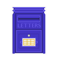 Retro blue letter box vector