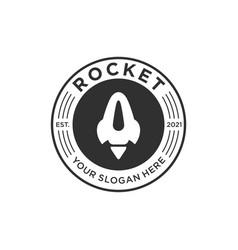 rocket vintage logo icon template vector image