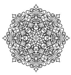 Round ornate vector
