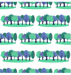 Seamless park pattern vector