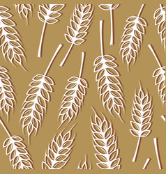 Seamless pattern with ears wheat vector