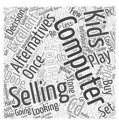 Selling Your Computer Word Cloud Concept vector