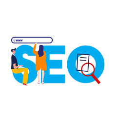 Seo search engine optimization of vector