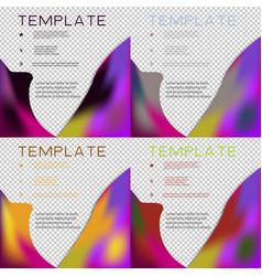 Set of brochure template layout design corporate vector