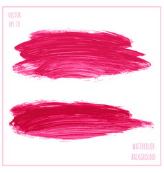 set of magenta watercolor vector image