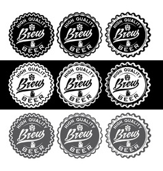 set of vintage beer labels vector image