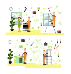set professional workers symbols in vector image