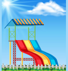 slide in the natture playground vector image