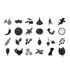 spices icon set simple style vector image