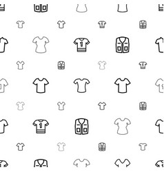 T-shirt icons pattern seamless white background vector