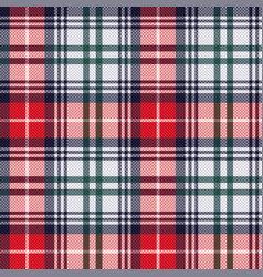 tartan seamless texture in red and light grey hues vector image