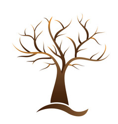 Tree element logo vector