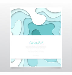 Turquois abstract layout - paper cut banner vector