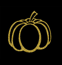 typography poster with gold pumpkin silhouette vector image