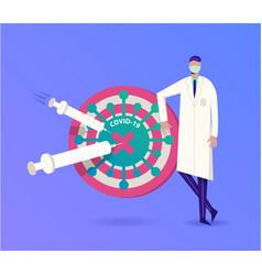 vaccine and protection covid-19 coronavirus vector image
