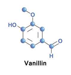 vanillin is a phenolic aldehyde vector image