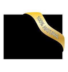 Vintage gold banner vector