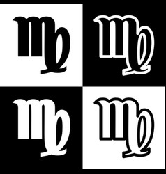 Virgo sign black and white vector