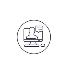 Webinar line icon vector