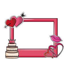 Wedding booth prop photo frame vector