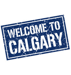 welcome to calgary stamp vector image